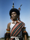 Naga Tribesman Came to Delhi for a Dance Festival Photographic Print by Volkmar K. Wentzel