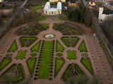 High Angle View of the Botanical Gardens in Uppsala Photographic Print by Mattias Klum