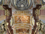 Low Angle View of Ceiling Inside the Melk Abbey Photographic Print by  Keenpress
