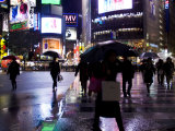 Rainy Street Scene at Dusk in Tokyo Photographic Print by Mattias Klum