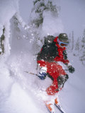 Young Powder Skier Blasts Through Snowy Trees Called 'snow Ghosts' Photographic Print by Gordon Wiltsie