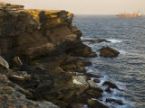 View of Passing Ship from Atop Craggy Cliffs on Australia's Coast Photographic Print by Mattias Klum