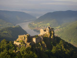 Elevated View of the Aggstein Ruins Photographic Print by  Keenpress