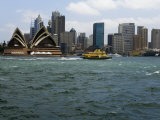 View of the Opera House and Downtown Sydney from across the Harbor Photographic Print by Mattias Klum