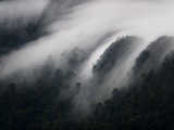 Mist-Covered Mountains in the Santubong Area Photographic Print by Mattias Klum