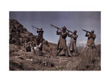 Group of Afridi Men Train to Be Fighters Photographic Print by Franklin Price Knott