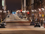 Quiet Street at Night in St. Louis Photographic Print by Jim Richardson