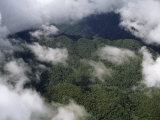 Rugged Hills Dominate the Cloud Forests of Peru's Upper Amazon Basin Photographic Print by Gordon Wiltsie