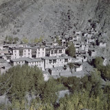 Hemis Monastery Sits Between Craggy Mountain and Tree-Shaded Oasis Photographic Print by Volkmar K. Wentzel
