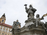 Statue Outside of the Melk Abbey Photographic Print by Keenpress 