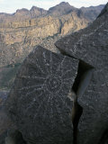 Spanish Petroglyph in the Superstition Mountains of Central Arizona Photographic Print by Scott Warren