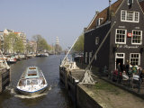 Amsterdam, Holland, Europe-Canal Boat Touring in Amsterdam Photographic Print by  Keenpress