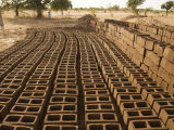 Mud Bricks Drying in the Sun Photographic Print by Jim Richardson