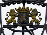 Crest Emblem with Lions on a Wrought Iron Gate Photographic Print by Mattias Klum