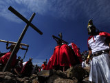 Reenactment of the Passion of Christ on Good Friday Photographic Print by Raul Touzon