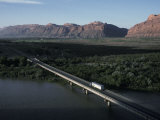Bridge over the Colorado River Just North of Moab, Utah Photographic Print by Scott Warren