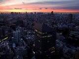 Cityscape and Skyline of Tokyo at Dusk Photographic Print by Mattias Klum