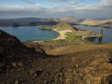 Santiago Island Seen from Bartolome Island, Galapagos Islands Photographic Print by Tim Laman