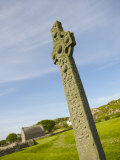 Early Celtic Cross at Iona Abbey, Where St. Columba Brought Christianity to Scotland Photographic Print by Keenpress 
