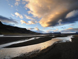 Scenic View of Water, Clouds, and Ridges in Iceland Photographic Print by Mattias Klum
