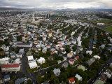 Elevated View of a Town in Iceland Photographic Print by Mattias Klum