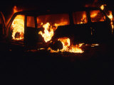 Van on Fire Photographic Print by Kate Thompson