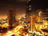 High Rise Construction on Brickell Avenue at Night Photographic Print by Raul Touzon