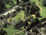 Aerial View of Warwick Castle Photographic Print by Richard Nowitz