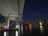 Looking East under the Clearwater Beach Causeway at Twilight Photographic Print by Scott Sroka