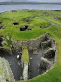 Overview of Jarlshof Archaeological Site, Shetland Islands Photographic Print by Jim Richardson