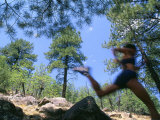 Woman Trail Running in Mountains Photographic Print by Kate Thompson