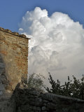 San Gimignano, Tuscany, Italy, Cumulus Clouds Photographic Print by  Keenpress