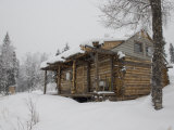 Homesteader Cabin in Bush Alaska Photographic Print by Michael S. Quinton