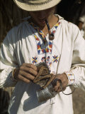 Man Carries His Tobacco in an Iguana-Skin Pouch Photographic Print by Luis Marden
