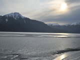 Sunlight, Ice, Water and Snow-Capped Mountains at Turnagain Arm Photographic Print by George Herben