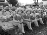 Decorative Garden Statuary Lined Up at a Garden Supply Store Photographic Print by Keenpress 
