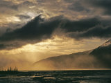 Wind Blows Glacial Dust and Clears a Storm over Turnagain Arm Photographic Print by Gordon Wiltsie