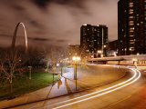 St. Louis Arch Is Lit at Night, Creating a Spectacular Display Photographic Print by Jim Richardson