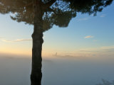 Siena, Tuscany, Italy-Sunrise with Fog, Siena in Background Photographic Print by Keenpress 