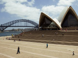 Tourists on the Grounds of the Sydney Opera House Photographic Print by Mattias Klum