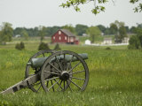 Lone Cannon Stands in a Field at Gettysburg Battlefield Photographic Print by Greg Dale