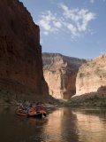 Raft Floats on the Colorado River Through the Grand Canyon, Arizona Photographic Print by Pete McBride
