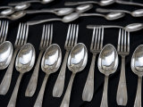 Silverware, Spoons and Forks Sold During the Monthly Antique Market Photographic Print by  Keenpress