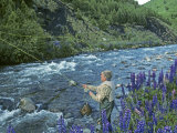 Fly Fishing in Patagonia Photographic Print by Gordon Wiltsie