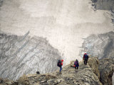 Three Mountaineers Descending to a Glacier Photographic Print by Kate Thompson