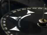 Close Up of a Compass on a Tall Ship Photographic Print by Todd Gipstein