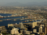 High Angle View of Busy Harbor and Port on the Coast of South Africa Photographic Print by Mattias Klum