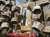 Felt Hats for Sale in Town Hall Square, Reflection of Tower in Mirror Photographic Print by  Keenpress