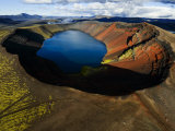 Lake in an Old Volcanic Crater or Caldera Photographic Print by Mattias Klum