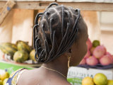 Woman Wearing a Braided Hairstyle in Ouagadougou Photographic Print by Jim Richardson